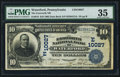 National Bank Notes:Pennsylvania, Waterford, PA - $10 1902 Date Back Fr. 619 The Ensworth NB Ch. #(E)10027. ...