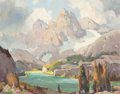 Fine Art - Painting, American:Modern  (1900 1949)  , Orrin A. White (American, 1883-1969). Sierra Lake. Oil onmasonite. 16 x 20 inches (40.6 x 50.8 cm). Signed lower left: ...