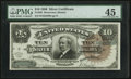 Large Size:Silver Certificates, Fr. 295 $10 1886 Silver Certificate PMG Choice Extremely Fine 45.....