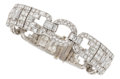 Estate Jewelry:Bracelets, Art Deco Diamond, Platinum, Gold Bracelet, Tiffany & Co.. ...