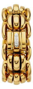 Estate Jewelry:Watches, Rolex Lady's Diamond, Gold Covered Dial Watch. ...