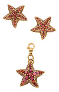 Estate Jewelry:Suites, Pink Tourmaline, Amethyst, Gold Jewelry Suite. ...