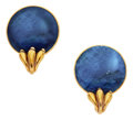 Estate Jewelry:Earrings, Sodalite, Gold Earrings, Lalaounis. ...