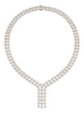 Estate Jewelry:Necklaces, Diamond, Platinum Necklace, Tiffany & Co. . ...