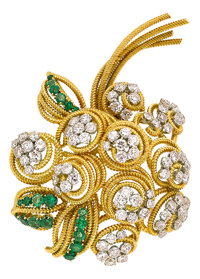 Diamond, Emerald, Gold Brooch, Van Cleef & Arpels, French