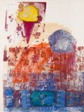 Post-War & Contemporary:Pop, Robert Rauschenberg (1925-2008). Untitled, 1985. Acrylic,collage and pencil on fabric-laminated paper. 64-3/8 x 48 inch...