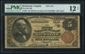 National Bank Notes:Virginia, Richmond, VA - $5 1882 Brown Back Fr. 467 The First NB Ch. #(S)1111. ...