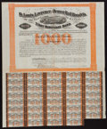Obsoletes By State:Missouri, Lawrence, KS- St. Louis, Lawrence and Denver Rail Road Co. First Mortgage Bond $1000 May 1, 1871. ...