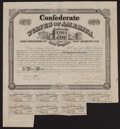 Confederate Notes:Group Lots, Ball 264 Cr. 130 $1000 Bond 1863 Fine.. ...
