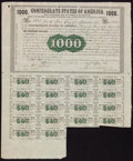 Confederate Notes:Group Lots, Ball 9 Cr. 8 $1000 1861 Bond Fine.. ...