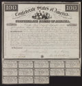 Confederate Notes:Group Lots, Ball 3 Cr. 6A $100 1861 Bond Fine-Very Fine.. ...