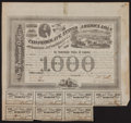 Confederate Notes:Group Lots, Ball 201 Cr. 125 $1000 Bond 1863 Fine.. ...