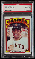 Baseball Cards:Singles (1970-Now), 1972 Topps Willie Mays #49 PSA NM-MT 8....