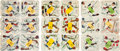 Baseball Cards:Sets, 1957 Swift Meats Baseball Game Complete Set (18), Game and Envelope - Uncut and Uncirculated! ...