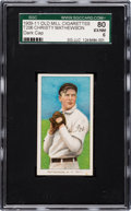 Baseball Cards:Singles (Pre-1930), 1909-11 T206 Old Mill Christy Mathewson, Dark Cap SGC 80 EX-NM 6....
