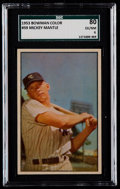 Baseball Cards:Singles (1950-1959), 1953 Bowman Color Mickey Mantle #59 SGC 80 EX/NM 6....