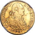 Chile, Chile: Charles IV gold 4 Escudos 1798 So-DA XF40 NGC,...