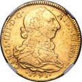 Chile, Chile: Charles IV gold 4 Escudos 1791 So-DA VF Details (SurfaceHairlines) NGC,...