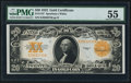 Large Size:Gold Certificates, Fr. 1187 $20 1922 Gold Certificate PMG About Uncirculated 55.. ...