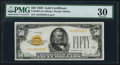 Small Size:Gold Certificates, Fr. 2404 $50 1928 Gold Certificate. PMG Very Fine 30.. ...