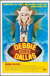 "Debbie Does Dallas (Numa, 1978). One Sheet (25"" X 38"") and Press Sheet (8.5"" X 11""). Adult. ... (Tot..."