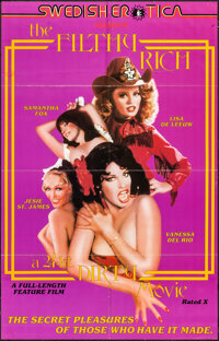 "The Filthy Rich: A 24 kt. Dirty Movie & Other Lot (Caballero Control, 1980). One Sheets (2) (23"" X 36"" &am..."