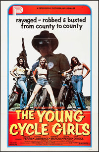 "The Young Cycle Girls (Peter Perry Pictures, 1977). One Sheet (27"" X 41""). Bad Girl"
