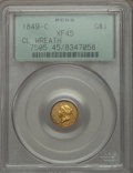 1849-C G$1 Closed Wreath XF45 PCGS. Variety 1....(PCGS# 7505)