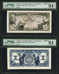 Canadian Currency: , Toronto, ON- The Canadian Bank of Commerce $10 Jan. 2, 1935 Ch. 75-18-06FP/BP Face/Back Proofs. ... (Total: 2 notes)