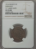 Mexico:Durango, Mexico: Durango. Revolutionary 5 Centavos 1914 VF35 Brown NGC,...