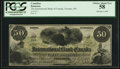Canadian Currency: , Toronto, CW- The International Bank of Canada $50 June 1, 1859 Ch.# 380-12-06. ...