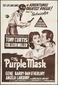 "Movie Posters:Adventure, The Purple Mask (Universal International, R-Late 1950s). AustralianOne Sheet (27"" X 39.75""). Adventure.. ..."