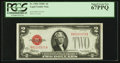 Small Size:Legal Tender Notes, Fr. 1504 $2 1928C Legal Tender Note. PCGS Superb Gem New 67PPQ.. ...
