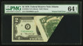 Error Notes:Foldovers, Fr. 1935-F $2 1976 Federal Reserve Note. PMG Choice Uncirculated 64Net.. ...