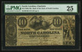 Obsoletes By State:North Carolina, Raleigh, NC- Bank of the State of North Carolina at Charlotte Branch $10 May 1, 1856 G68. ...