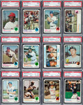 Baseball Cards:Sets, 1973 Topps Baseball Extremely High Grade Complete Set (660) Plus Team Set (24) And Coach Variations (13). ...