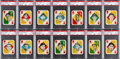 Baseball Cards:Sets, 1951 Topps Red and Blue Back Baseball High Grade Complete Sets (2). ...