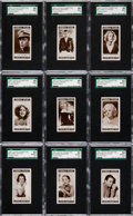 "Non-Sport Cards:Sets, 1935 Lloyd & Sons ""Cinema Stars"" (Series 2) Complete Set (27) -#2 on the SGC Set Registry. ..."