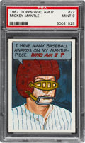Baseball Cards:Singles (1960-1969), 1967 Topps Who Am I? Mickey Mantle #22 PSA Mint 9 - None Higher....