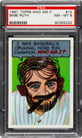 Baseball Cards:Singles (1960-1969), 1967 Topps Who Am I? Babe Ruth #12 PSA NM-MT 8....