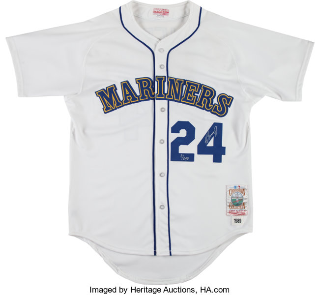reputable site ab30e 25f97 1990's Ken Griffey Jr. Signed Seattle Mariners Mitchell ...