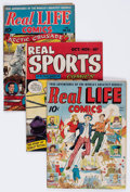 """Golden Age (1938-1955):Miscellaneous, Golden Age """"Real"""" Comics Group of 10 (Various Publishers, 1940s) Condition: Average GD.... (Total: 10 Comic Books)"""