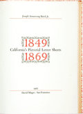 Books:Americana & American History, Joseph Armstrong Baird, Jr. LIMITED. California's PictorialLetter Sheets 1849 - 1869. San Francisco: David Magee, 1...