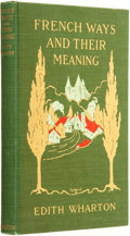 Books:Travels & Voyages, Edith Wharton. French Ways and Their Meaning. New York: D. Appleton and Company, 1919...