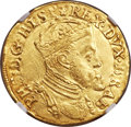 Spanish Netherlands:Brabant, Spanish Netherlands: Brabant. Philip II gold Real d'or ND (1555-98)MS62 NGC,...
