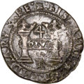 Mexico, Mexico: Carlos & Johanna Early Series Cob 4 Reales ND (1536-38)R-M AU - Saltwater Damage,...