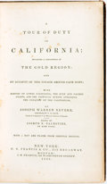 Books:Americana & American History, Joseph Warren Revere. A Tour of Duty in California; Including aDescription of the Gold Region: And an Account of the Vo...