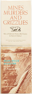 Books:Americana & American History, Charles F. Outland. Pair of SIGNED First Editions, including:Man-Made Disaster: The Story of the St. Francis Dam, its p...(Total: 2 Items)