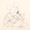 Animation Art:Production Drawing, Mickey Plays Papa Mickey Mouse Animation Drawing (WaltDisney, 1934)....