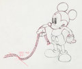 Animation Art:Production Drawing, Society Dog Show Mickey Mouse Animation Drawing (Walt Disney, 1939)....